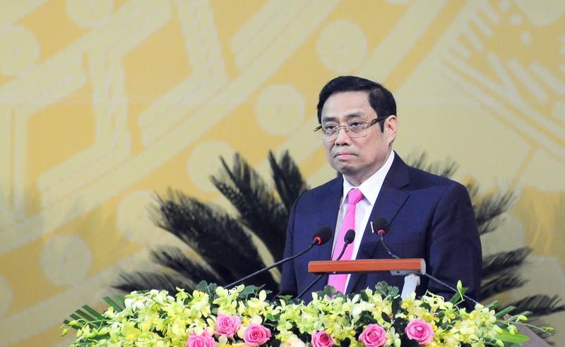 Ông Phạm Minh Chính phát biểu chỉ đạo tại ĐH Đảng bộ Hậu Giang - ảnh 1