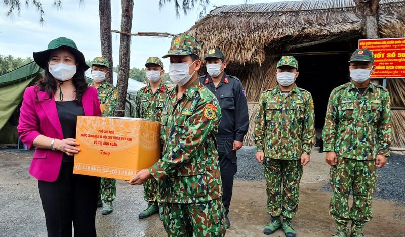 Phó Chủ tịch nước làm việc với Kiên Giang về phòng, chống dịch tuyến biên giới - ảnh 2