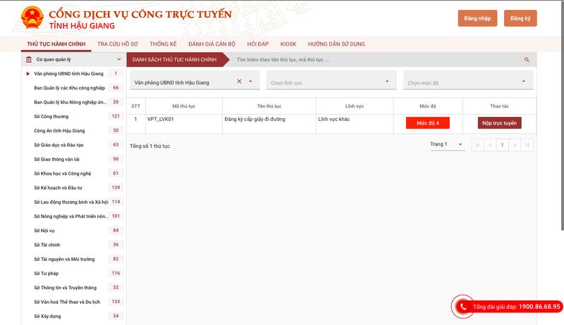 Xin giấy đi đường ra vào tỉnh Hậu Giang bằng online - ảnh 1