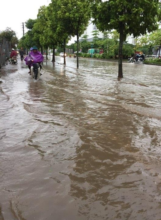 Nhiều tỉnh miền Bắc ngập nặng sau trận mưa đêm - ảnh 4