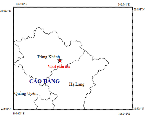 Chỉ trong 3 giờ, Cao Bằng xảy ra hai trận động đất - ảnh 1