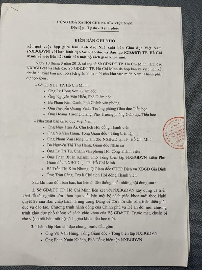 Diễn biến mới nhất vụ NXB chi thù lao cho Sở Giáo dục - ảnh 1