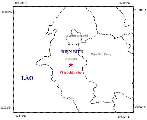 Động đất tại tỉnh Điện Biên - ảnh 1
