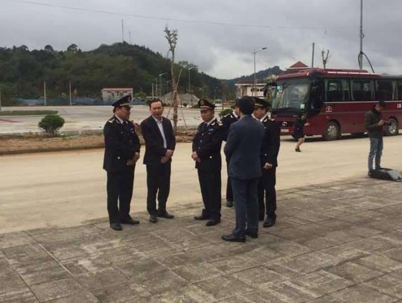 Kiểm tra tình hình thông quan tại cửa khẩu Trà Lĩnh, Cao Bằng - ảnh 1