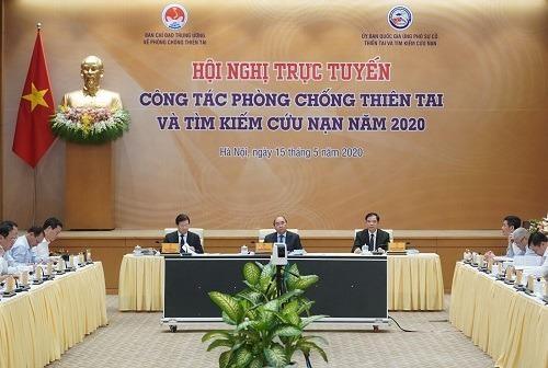 Thủ tướng chủ trì hội nghị về công tác phòng, chống thiên tai - ảnh 1
