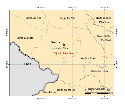 2 trận động đất liên tiếp tại Sơn La - ảnh 1