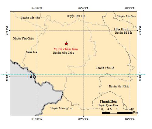 3 trận động đất liên tiếp ở Sơn La - ảnh 1
