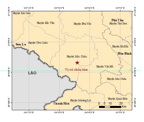 Động đất mạnh ở Sơn La, một số nơi ở TP Hà Nội rung lắc - ảnh 1
