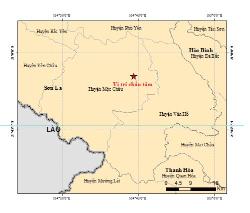 7 trận động đất liên tiếp ở Sơn La trong vòng 20 tiếng đồng hồ - ảnh 1