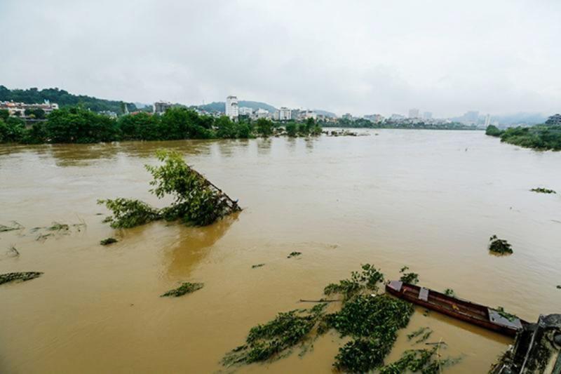 Tình hình xả lũ của thủy điện Mã Đổ Sơn trên sông Hồng - ảnh 1