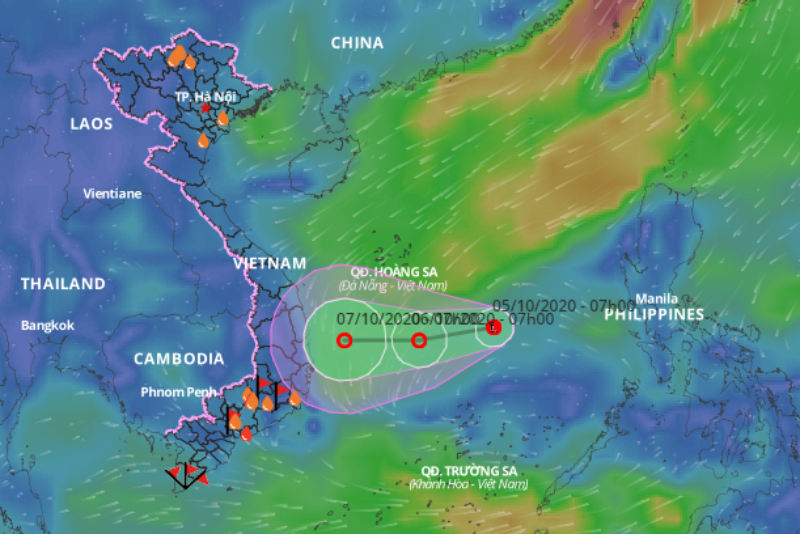 Xuất hiện vùng áp thấp giữa Biển Đông  - ảnh 1