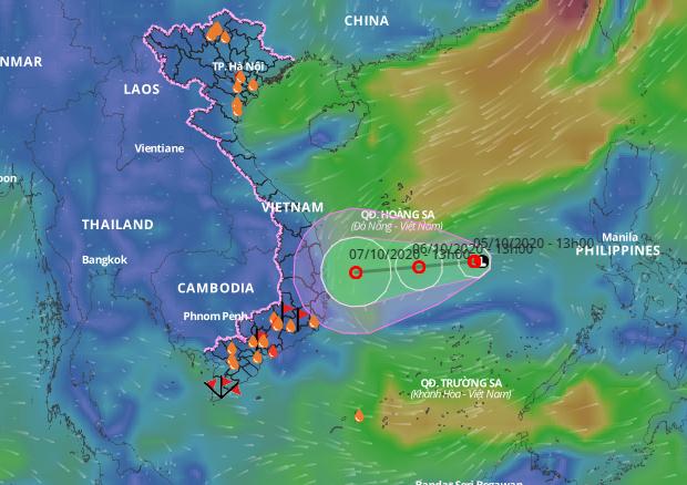 Áp thấp nhiệt đới gây mưa lớn khu vực miền Trung  - ảnh 1