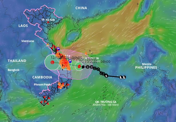 Bão số 6 đang nằm trên vùng biển Quảng Nam - Bình Định - ảnh 1