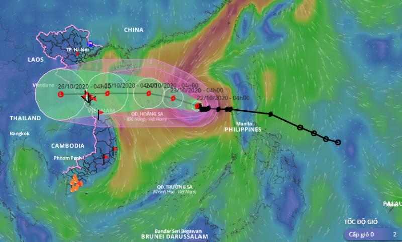 Bão số 8 giật cấp 13 cách quần đảo Hoàng Sa 470km - ảnh 1