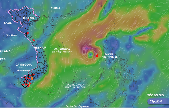 Siêu bão Goni giảm tới 9 cấp - ảnh 1