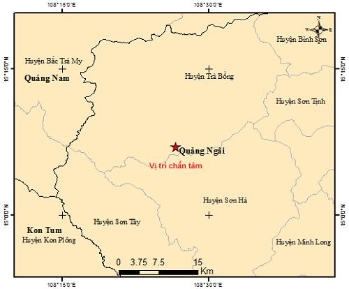 Động đất liên tiếp tại Quảng Ngãi - ảnh 1