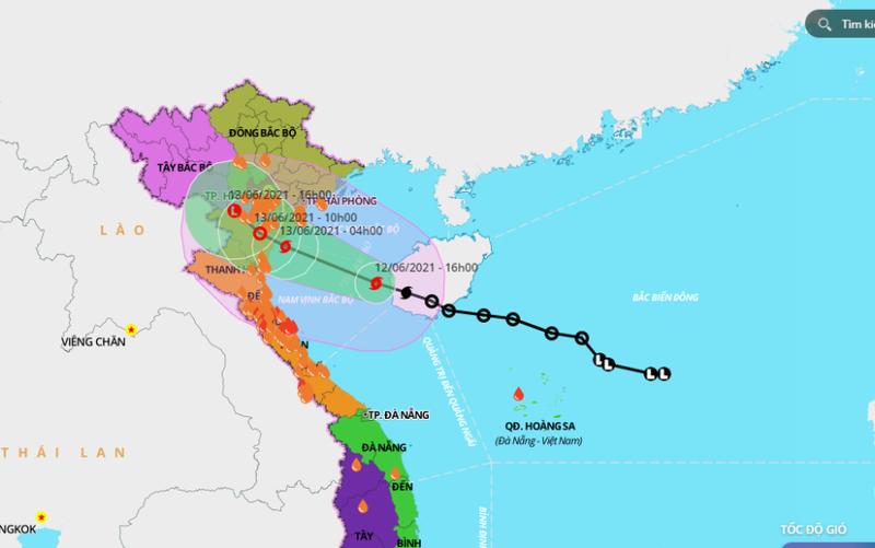 Bão số 2 cách Hải Phòng-Nghệ An 210km, 5 tỉnh cấm biển - ảnh 1