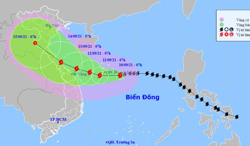 Bão số 5 cách Hoàng Sa 170km, hướng vào bờ biển Huế - Đà Nẵng - ảnh 1