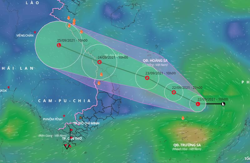 Áp thấp đang mạnh lên thành áp thấp nhiệt đới, nhiều tỉnh miền Trung mưa to - ảnh 1