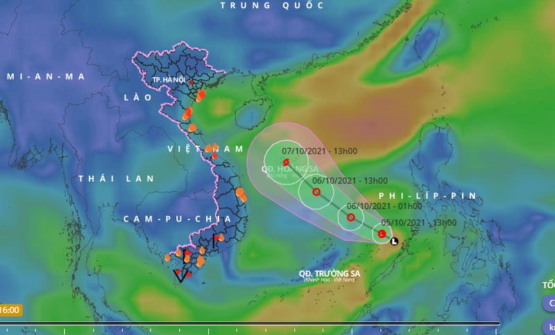 Áp thấp vào Biển Đông, trong 24-48 giờ tới có thể mạnh thành bão - ảnh 1