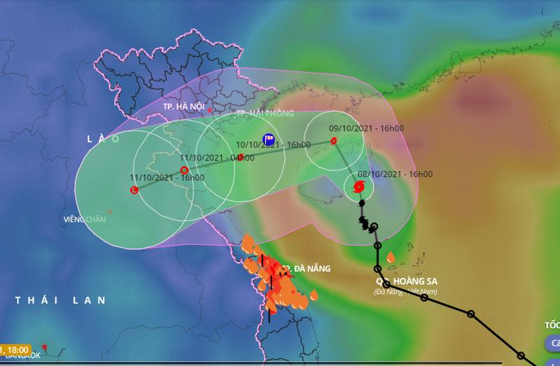 Bão số 7 liên tục đổi hướng, gây mưa to ở Bắc Trung bộ - ảnh 1