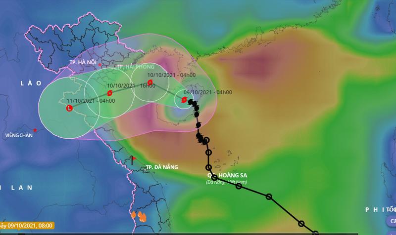 24 giờ tới, bão số 7 đi vào Vịnh Bắc bộ - ảnh 1