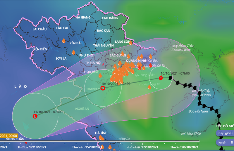 Bão số 7 tiến sát vùng biển Hải Phòng - Thanh Hóa, bão Kompasu sắp vào Biển Đông - ảnh 1