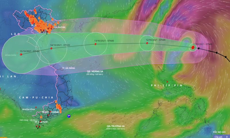 Đêm nay, bão Kompasu vào Biển Đông, hướng vào Thanh Hóa - Quảng Bình - ảnh 1