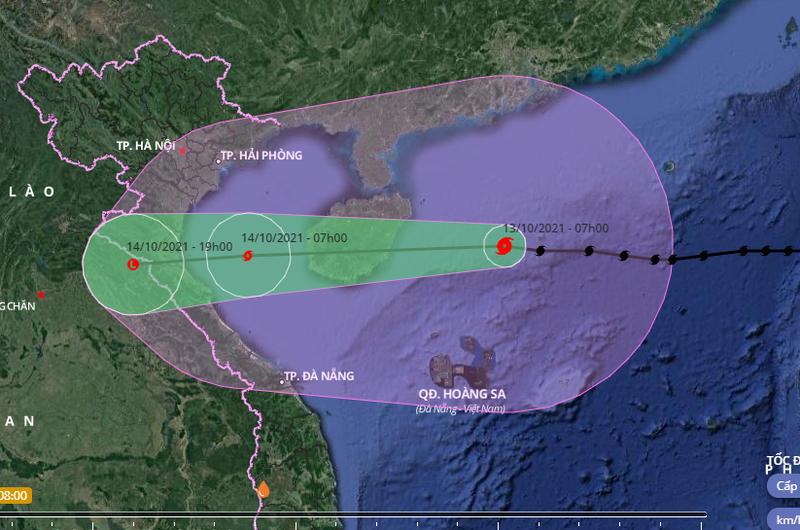 Bão số 8 giật cấp 14 đang cách quần đảo Hoàng Sa 260 km - ảnh 1