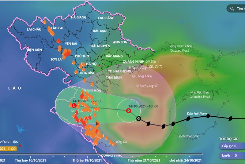 Áp thấp nhiệt đới giảm cấp trước khi vào đất liền Thanh Hóa - Nghệ An - ảnh 1