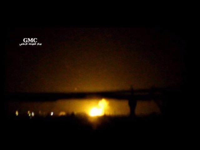 Nổ lớn ở kho vũ khí gần sân bay thủ đô Syria - ảnh 2