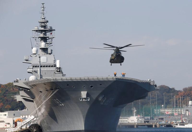 Tàu chiến lớn nhất Nhật Bản hộ tống tàu Mỹ - ảnh 1