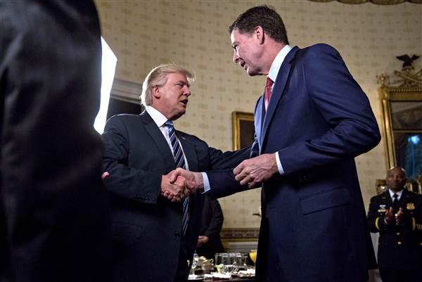 'Bữa tối định mệnh' giữa ông Trump và cựu giám đốc FBI - ảnh 1