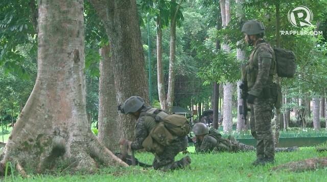 Doanh trại Philippines bị khủng bố đánh du kích - ảnh 1