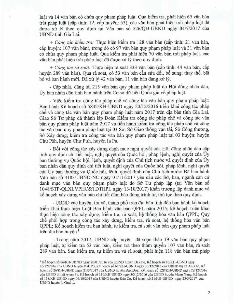 Gia Lai có hàng chục văn bản sai pháp luật - ảnh 1