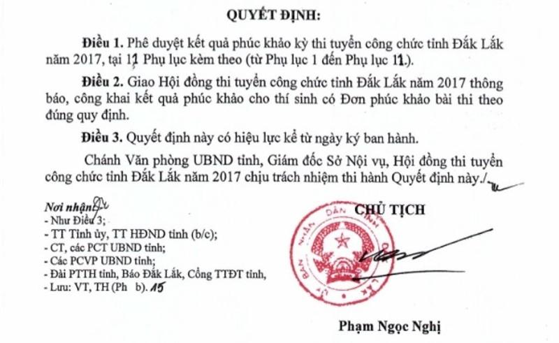 Đắk Lắk: Nhiều người nhà lãnh đạo thi công chức rớt thành đậu - ảnh 2