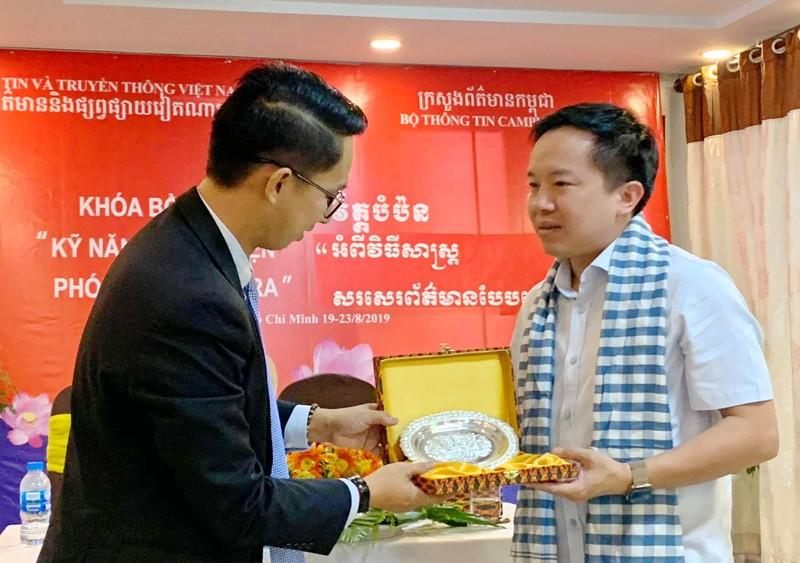 Lớp bồi dưỡng kỹ năng điều tra cho các nhà báo Campuchia - ảnh 3