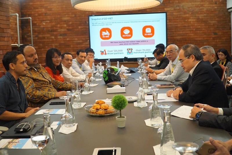 Lãnh đạo TP.HCM tìm hiểu doanh nghiệp công nghệ Indonesia - ảnh 1