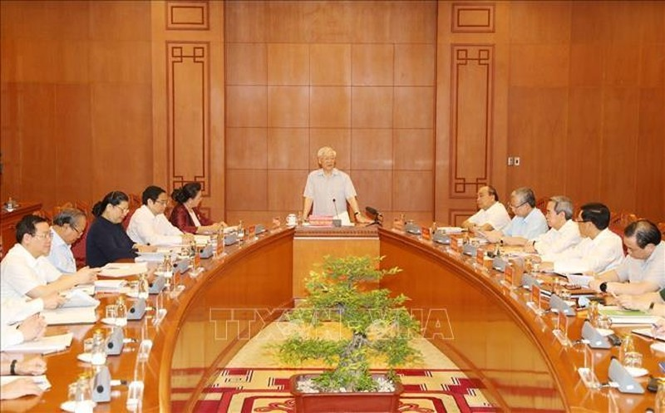 Tổng Bí thư, Chủ tịch nước họp Tiểu ban Văn kiện Đại hội XIII  - ảnh 1