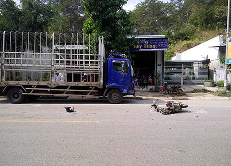 Xe máy đối đầu xe tải, 2 chị em ruột tử vong tại chỗ - ảnh 1