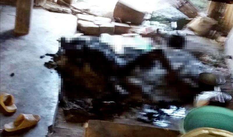 1 phụ nữ chết cháy vì quấn chăn ngủ cạnh bếp lửa - ảnh 1