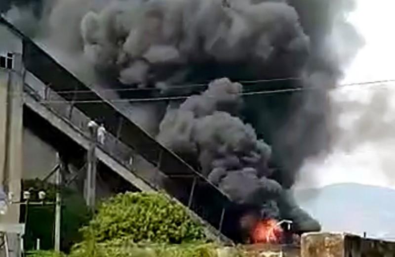 Gia Lai: Cháy lớn ở Nhà máy xi măng Sông Đà - ảnh 1