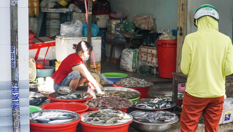 Đà Nẵng: Đường phố vắng vẻ, chợ dư hàng trước ngày 'cấm ra đường' - ảnh 7