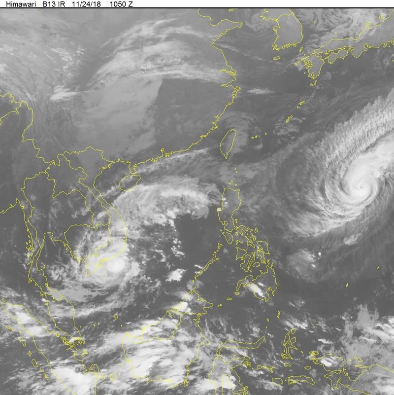 Dự báo diễn tiến của cơn bão số 9 vào ngày mai 25-11 - ảnh 1