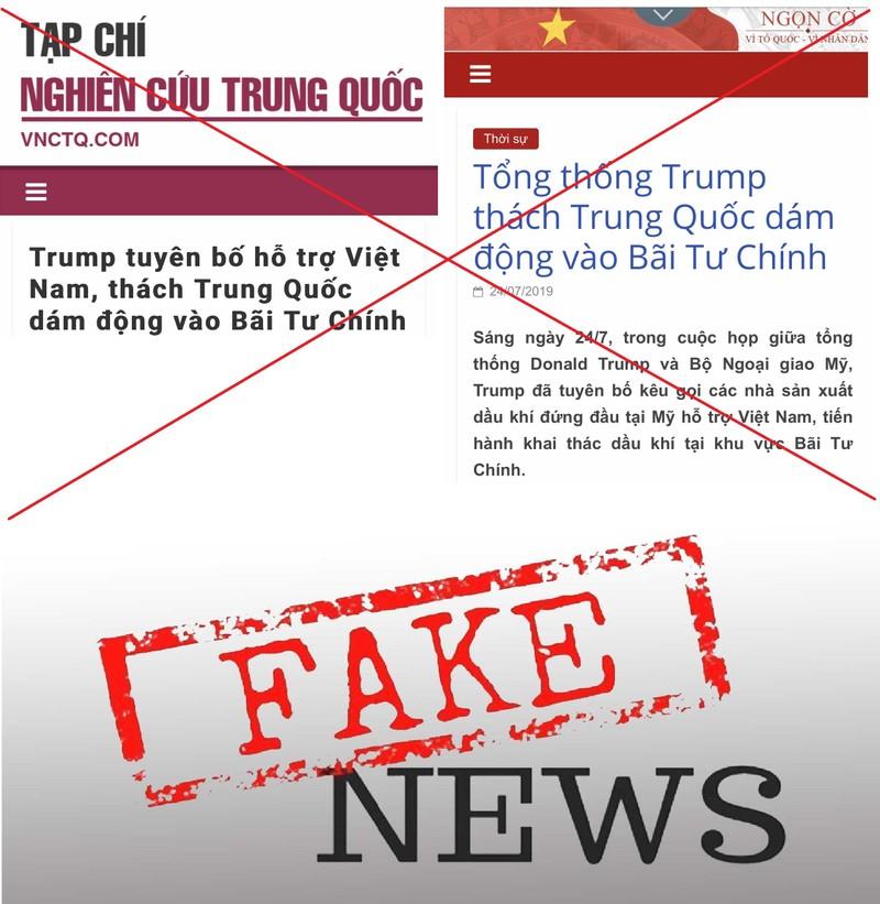 Vụ tàu Trung Quốc gần bãi Tư Chính: Cẩn trọng tin giả  - ảnh 1
