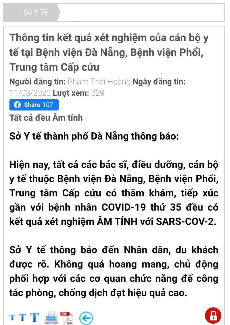 10 nhân viên y tế BV Đà Nẵng âm tính với COVID-19 - ảnh 1