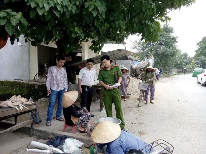 Công an huyện Quỳnh Lưu (Nghệ An) xuống gặp gỡ người dân xác minh sự việc, vào cuộc điều tra.