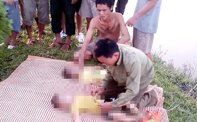 2 anh em họ chết đuối, bố mẹ khóc ngất xỉu - ảnh 1