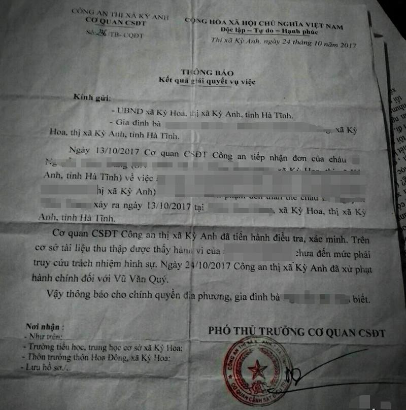 Hôn bé gái 13 tuổi, bị phạt 300.000 đồng - ảnh 2
