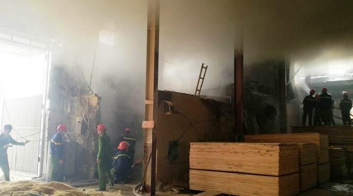 Cháy xưởng gỗ, hàng chục cảnh sát lao vào dập lửa - ảnh 2